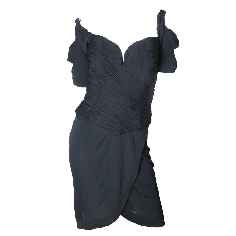 Vicky Tiel Black Cocktail Dress