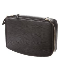 Louis Vuitton Black Epi Leather Jewelry Accessory Travel Storage Case Bag