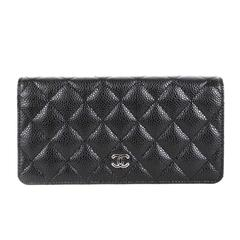 Chanel Quilted Caviar Long CC Wallet