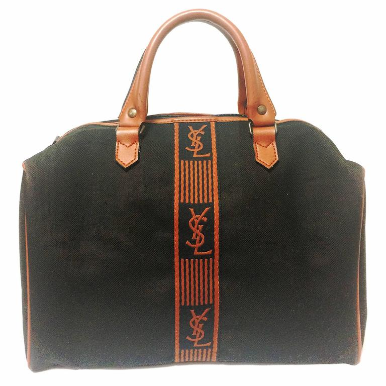 1stdibs Yves Saint Laurent Canvas And Leather Tote, 1990s