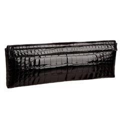 Stunning Black Gucci by Tom Ford Alligator Evening Clutch