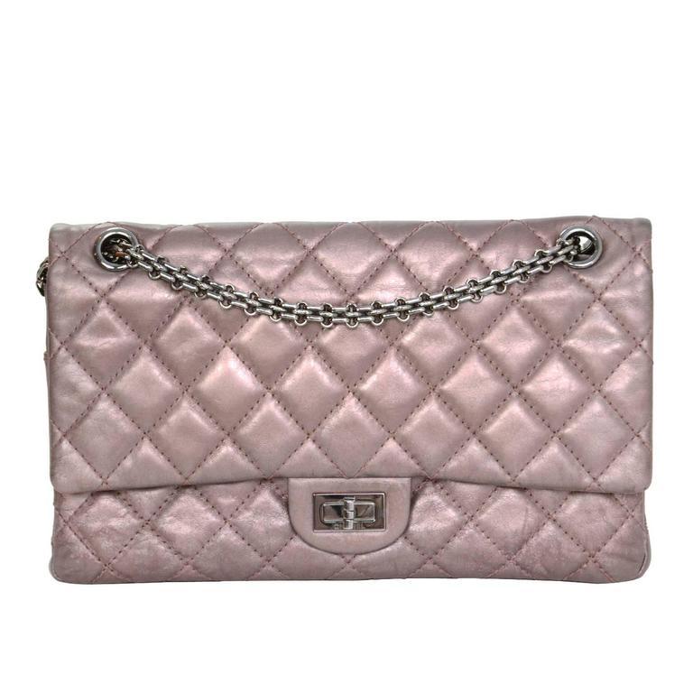 Chanel Muave Metallic Reissue 2.55 225 Medium Double Flap Classic Bag 1