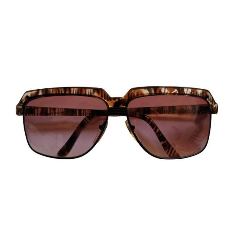 1980's COURREGES tortoise sunglasses For Sale