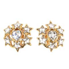 Yves Saint Laurent Crystal Star Earrings YSL