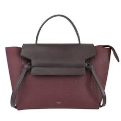 Celine Medium Plum Belt Bag Grained Leather Handbag