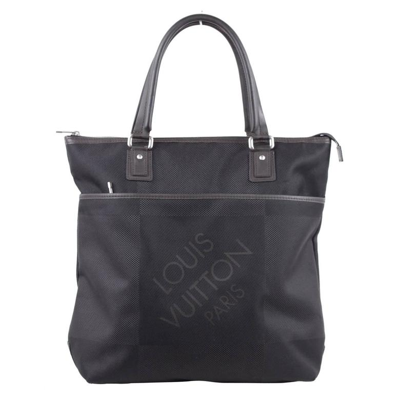 LOUIS VUITTON Black DAMIER GEANT Canvas COUGAR TOTE Top Handles ...