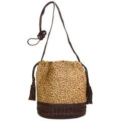 Bottega Veneta Vintage Leopard Ponyhair Crossbody Bag