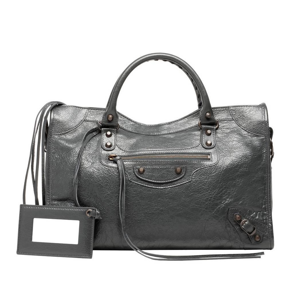 Balenciaga Borse Costo : Balenciaga classic city grey fossil bag for sale at stdibs