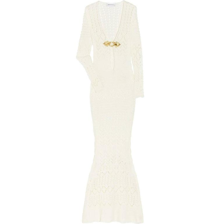 Gorgeous Emilio Pucci Crochet Knit Evening Gown For Sale