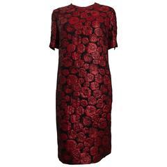 Lanvin Red Floral Dress size 44 (12)