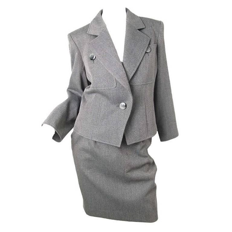 Yves Saint Laurent grey suit For Sale