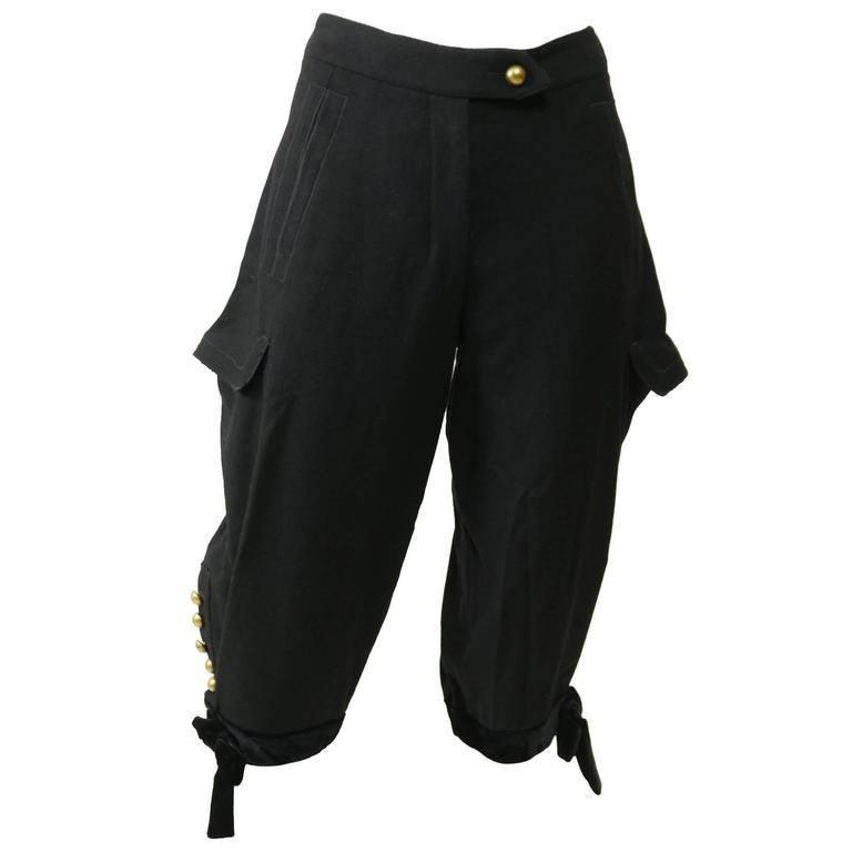 Yves Saint Laurent Rive Gauche Knickerbockers Gaucho Trouser Pants 1