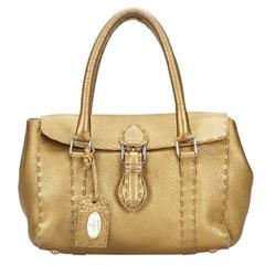 Fendi Gold Selleria Handbag