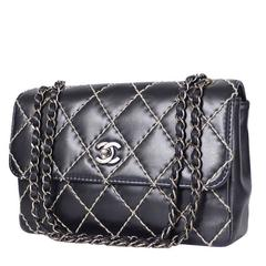 Chanel Wild Stitched 2.55 Classic Shoulder Bag Black