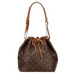 Louis Vuitton Brown Monogram Petit Noe Shoulder Bag