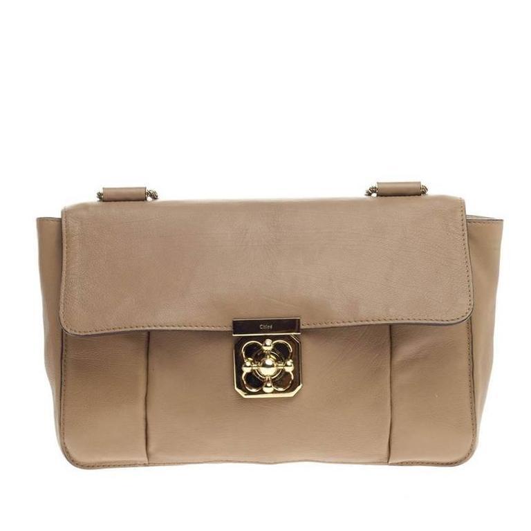 b862baf74a03c Chloe Elsie Chain Shoulder Bag Leather Large at 1stdibs