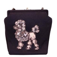 60s Poodle Embellished Handbag