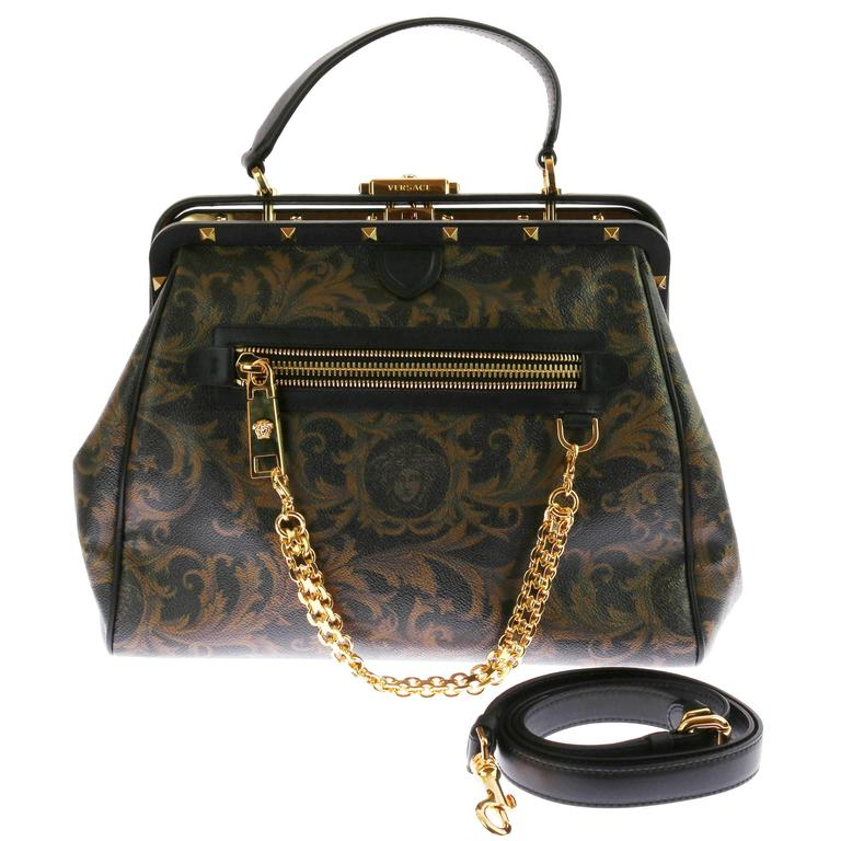 VERSACE Zippered Barocco printed Doctor Bag