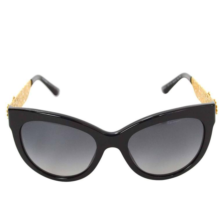 Dolce And Gabbana Gold Frame Sunglasses : Dolce and Gabbana Baroque Black and Gold Sunglasses For ...