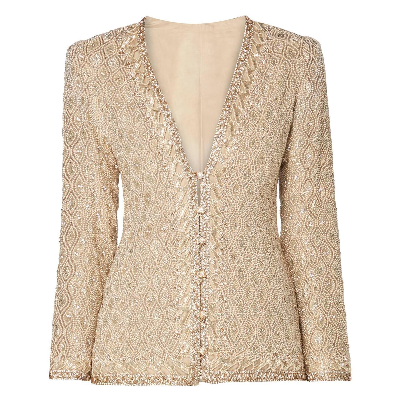 Yves saint laurent haute couture ivory jacket autumn for Haute couture jacket