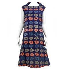 CDG Blue & Floral Padded Dress