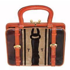 Italian principe 70s velvet handbag
