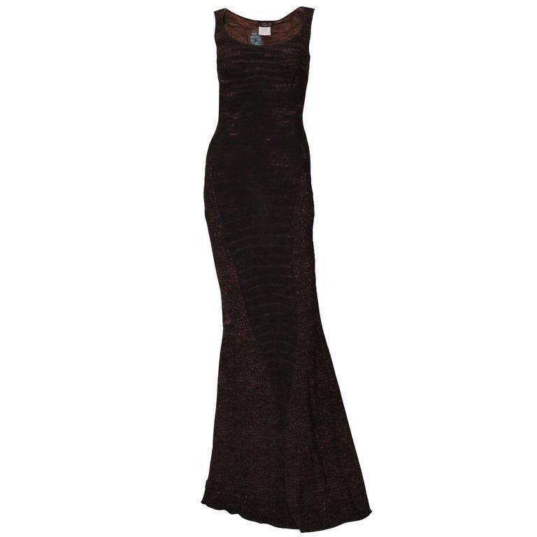 John Galliano Paris bias cut evening gown