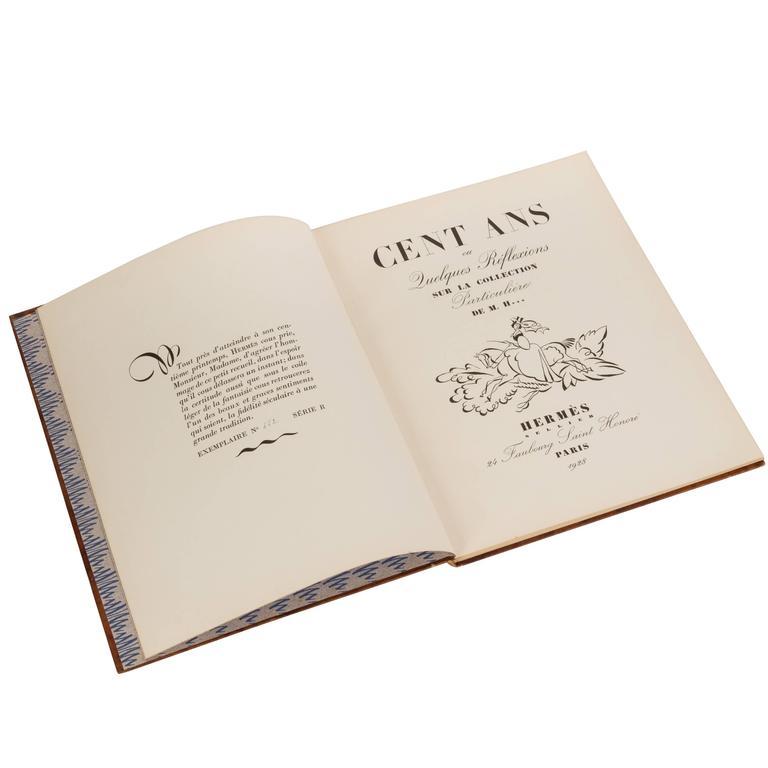 Rare Hermès c.1928, 100 Years Anniversary Book For Sale