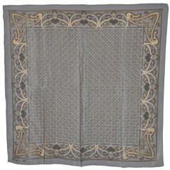"""Anne Klein """"Shades of Gray"""" Palsey Print Silk Scarf"""