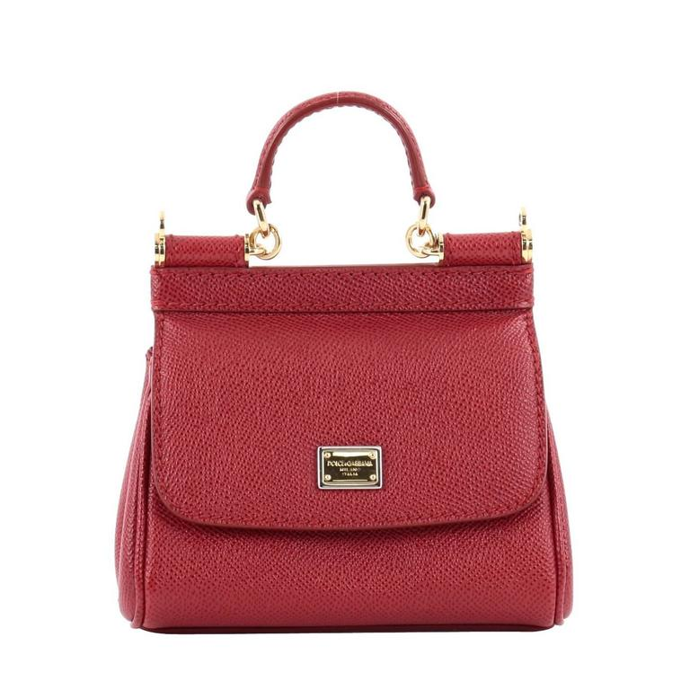 Dolce and Gabbana Miss Sicily Leather Micro at 1stdibs 362d953afe