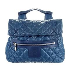 Chanel Backpack Coco Cocoon - CC Logo Blue Bag Handbag Graffiti