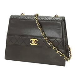 Chanel Rare Vintage Black Lambskin Gold Turnlock Kelly Box Chain Crossbody Bag