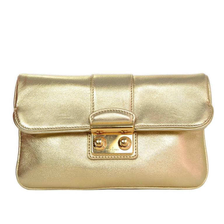 louis vuitton clutch bag. louis vuitton gold sofia coppola sc slim clutch bag rt. $1,720 1