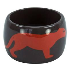 Dynamic Large Panther Cuff Bracelet in Celluloid Galalith