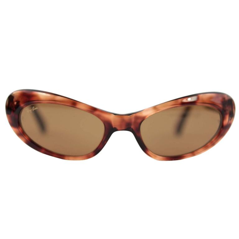 12aea7049b RAY-BAN B L Vintage RITUALS Tortoise Cat Eye SUNGLASSES W2523 w CASE For  Sale at 1stdibs