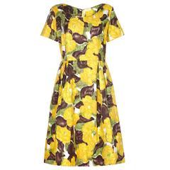 1950s Patricia Anne Printed Cotton Dress