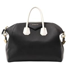 Givenchy Antigona Black And White Leather Bag