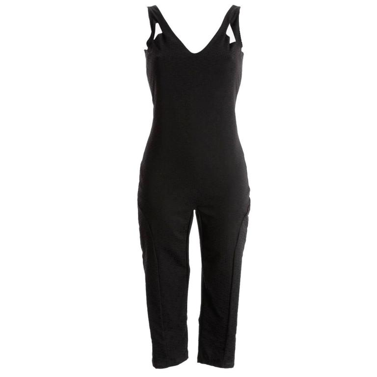 Stunning Black Gucci by Tom Ford Monogram GG Silk Jumpsuit