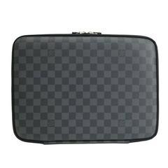 Louis Vuitton SOLD OUT Black Gray Men's Canvas Lap Top Tech Carrying Case Bag