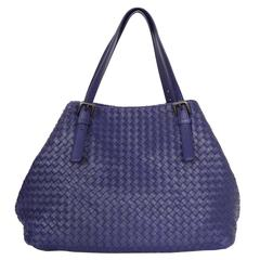 Bottega Veneta Navy Intrecciato Large Tote Bag rt. $3,950