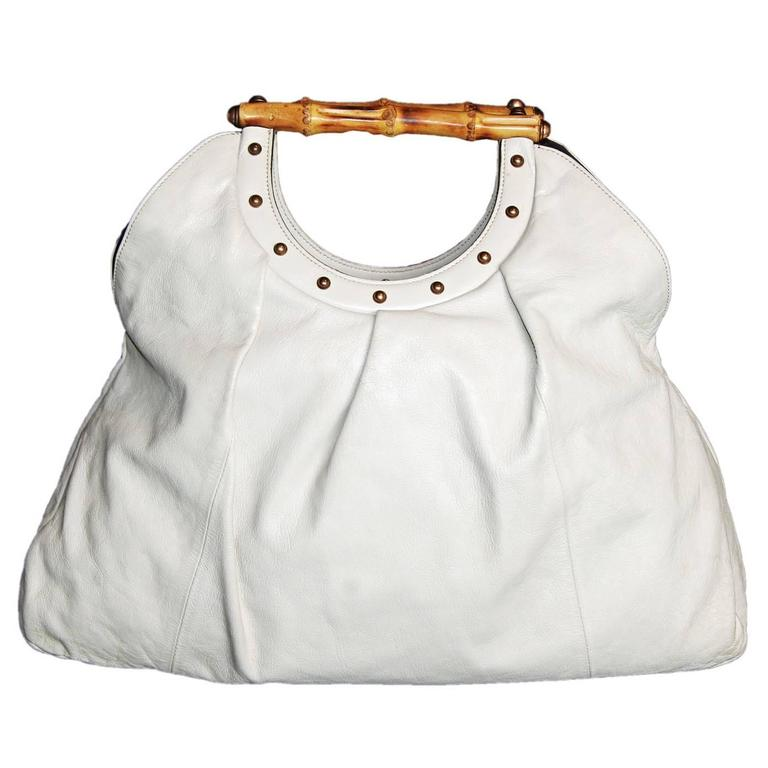 95d56f8c3703 Free Shipping Uber-Rare   Iconic Tom Ford Gucci SS2004 Beige Leather Runway  Bag