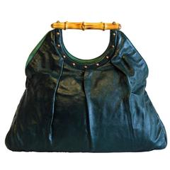 Free Shipping: Uber-Rare Tom Ford Gucci SS 2004 Forest Green Leather Runway Bag!