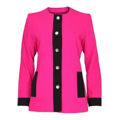 1980s YSL Pink and Black Jacket