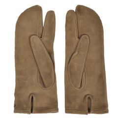 Martin Margiela Tan Suede Tabi Glove