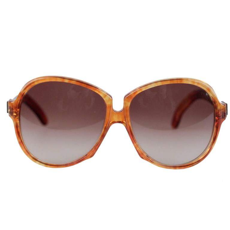 YVES SAINT LAURENT Vintage MINT Orange GAUDE 58/17 Oversized SUNGLASSES 1