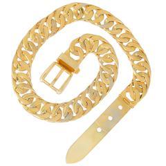 Vintage Gucci Gold Vermeil Chain Link Belt