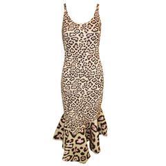NWT $5.2K Givenchy Resort 2016 Leopard Fluted Dress on Katy Perry Nicki Minaj 38