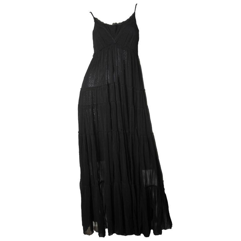 Jean Paul Gaultier Long Sheer Mesh Dress For Sale