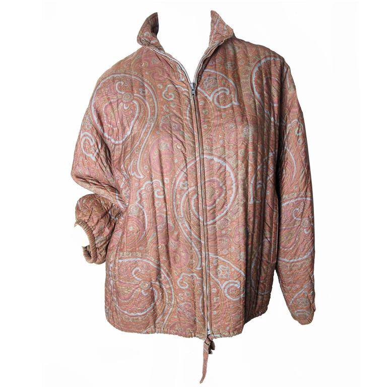1970s Yves Saint Laurent RIve Gauche Paisley Coat For Sale