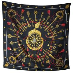Hermes Silk Les Cles Scarf